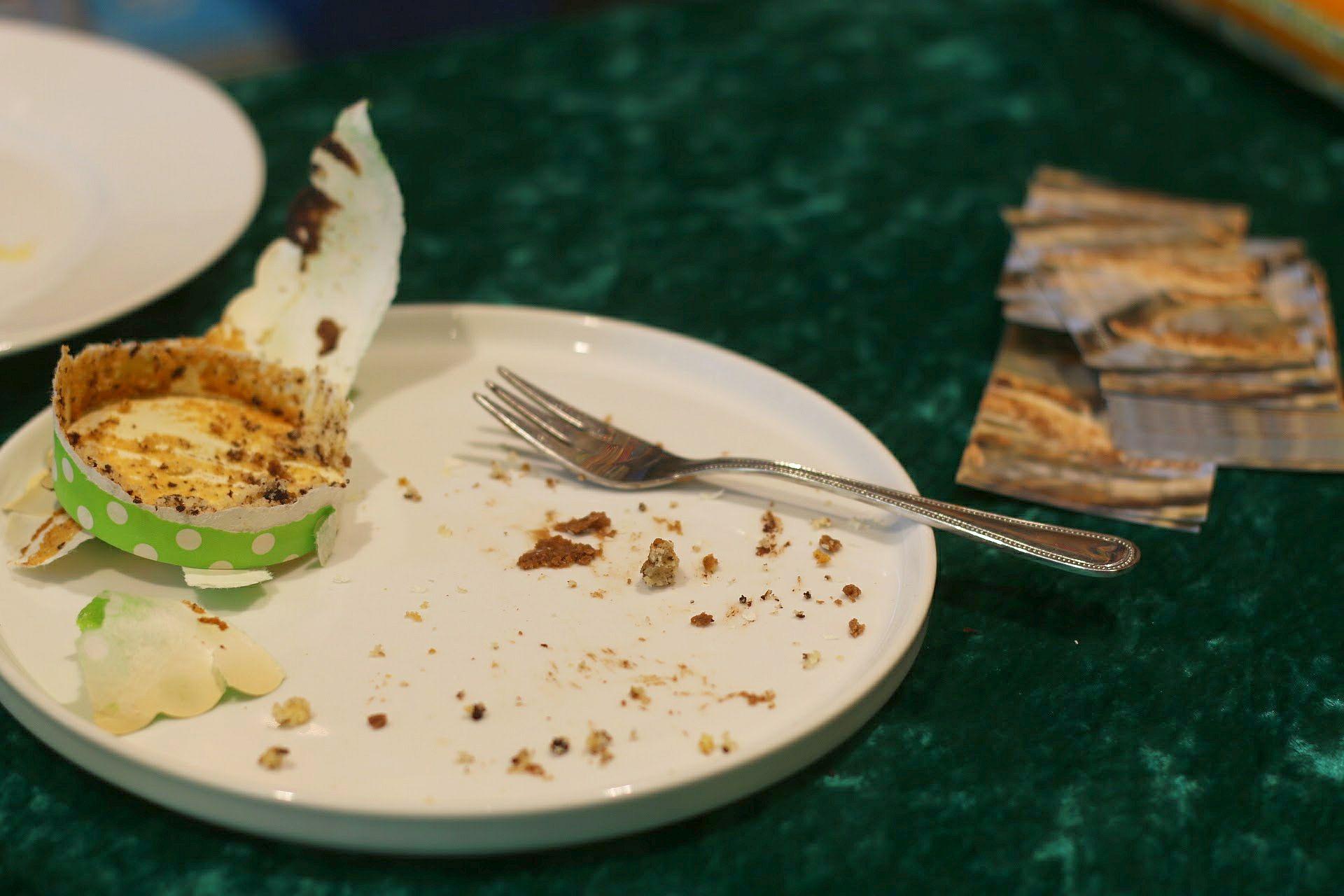 Blogger-Event Visitenkarten Tisch Kuchen Cupcakes Muffins essen Kaffeeklatsch