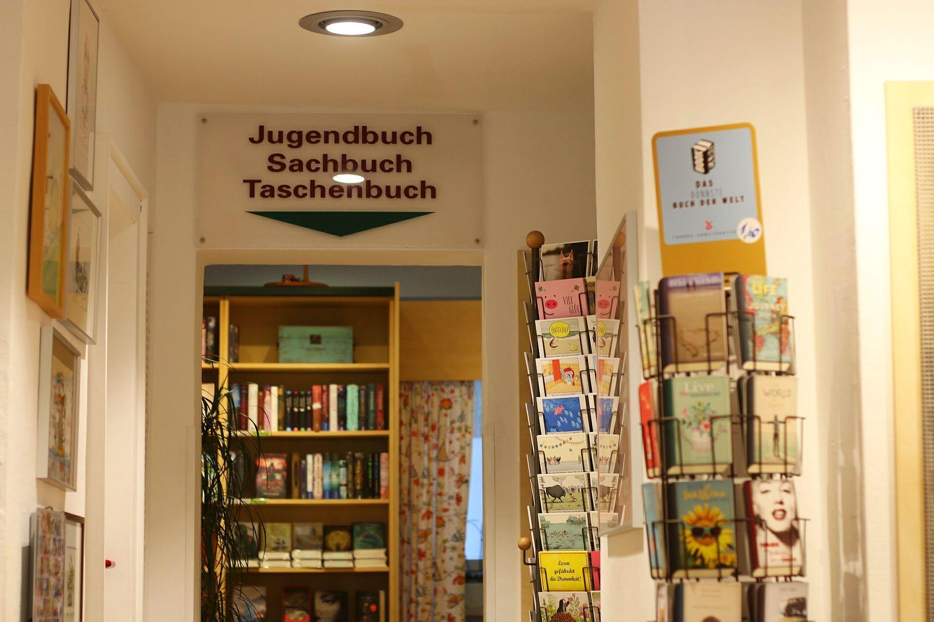 Buchhandlung Schatzinsel Münster Jugendbuch Abteilung Bücher