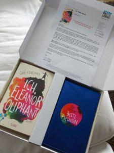 Ich Eleanor Oliphant Gail Honeyman Lübbe Verlag Paket Buchpost Buch Päckchen Geschenk für deine beste Freundin