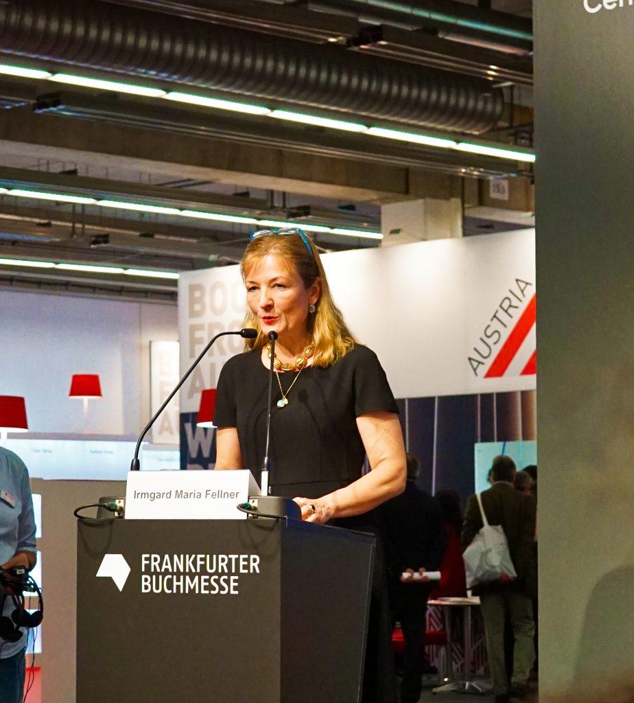 Irmgard Maria Fellner Weltempfang Frankfurter Buchmesse 2019