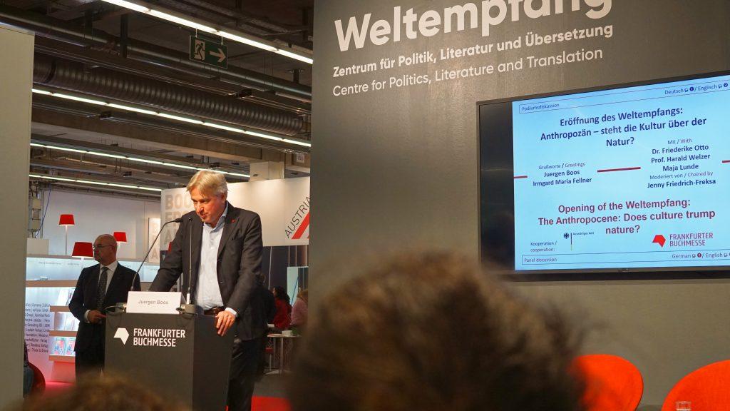 Jürgen Boos Weltempfang Frankfurter Buchmesse 2019